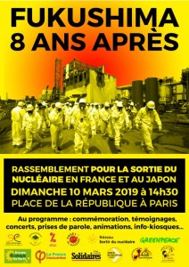 fukushima 8ans après rassemblemt Paris 10mars2019